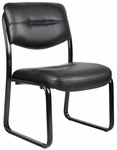 LeatherPlus Sled Base Side Chair without Arms - Black [B9539-FS-BOSS]