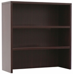 Legacy 35''W x 36''H 2 Shelf Open Wooden Hutch for Lateral File - Mahogany [LHO35MH-FS-REG]