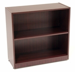 Legacy 30''H 2 Shelf Wooden Bookcase with PVC Edge - Mahogany [LBC3032MH-FS-REG]