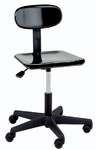 Legacy Series Adjustable Height Lab Stool with Back [190-CSC]