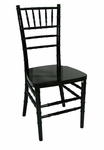 Legacy Series 36.125''H Wood Chiavari Ballroom Stack Chair - Black [122002-MES]