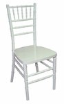 Legacy Series 36''H Wood Chiavari Ballroom Stack Chair - White [122001-MES]