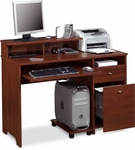 Legend Computer Desk with Keyboard Shelf and CPU Platform - Tuscany Brown [56400-1163-FS-BS]