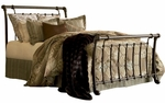 Legion Metal Sleigh Bed with Frame - King - Ancient Gold [B11296-FS-FBG]