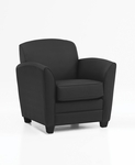 LeMans Contemporary Side Chair - Black Simulated Leather [CH100105B5000-FS-DMI]