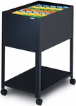 Mobilizers™ Open Top Mobile File with Locking Casters - Black [9P600BLK-FS-MAY]
