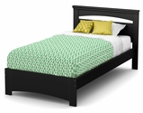 Libra Collection Twin Bed Set (39'') Pure Black