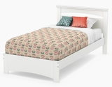 Libra Collection Twin Bed Set (39'') Pure White