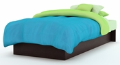 Libra Collection Twin Platform Bed (39'') Chocolate
