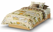 Libra Collection Twin Platform Bed (39'') Natural Maple