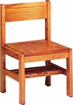 Library Chair with Rack [501-R-GCC]