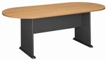 82'' W x 35'' D Racetrack Conference Table - Light Oak [TR64384A-FS-BBF]