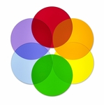 Set of 6 Multi-Colored Acrylic Circle Disks for Light Table [WB7724C-FS-WBR]