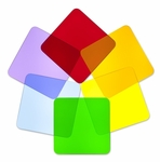 Set of 6 Multi-Colored Acrylic Square Disks for Light Table [WB7724S-FS-WBR]