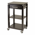Linea Kitchen Cart with Chrome Accent [92718-FS-WWT]