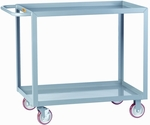 Welded Service Cart With 2 Lipped Shelves - 18''W x 32''D [LGL-1832-BRK-LGC]