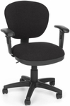 Lite Use Computer Task Chair with Arms - Black [150-AA-126-FS-MFO]