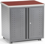 Mobile 30'' W x 33.25'' D Locking Utility or Fax and Copy Table - Cherry [66746-CHY-FS-MFO]