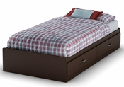 Logik Collection Twin Mates Bed (39'') Chocolate