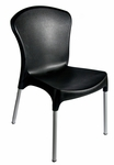 Lola Outdoor Stacking Side Chair in Black [SA21523BL-BFMS]