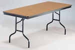 EF Series Long Rectangular Plywood Core Folding Table - 30''W x 96''L x 30''H [830EF-MFT]