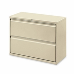 Lorell 2 Drawer 36''W Lateral File - Putty [LLR60447-FS-SP]