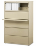 Lorell 5 Drawer 42''W Lateral File - Putty [LLR60432-FS-SP]