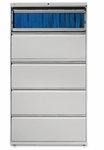 Lorell 5 Drawer 42''W Lateral File - Light Gray [LLR60433-FS-SP]