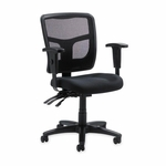 Lorell 86000 Series Mesh Managerial Mid Back Chair [LLR86201-FS-SP]
