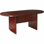 Lorell 87000 Series Contemporary Oval Conference Table in Mahogany Finish [LLR87272-FS-SP]