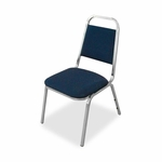 Lorell All -Purpose Stack Chairs - 26''W x 28''L x 43 -3/8''H - Blue - Set of 4 [LLR62510-FS-SP]