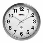 Lorell Atomic Wall Clock - 11 -3/4''Dia - Chrome [LLR61001-FS-SP]