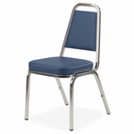 Lorell Blue Vinyl Upholstered Stack Chairs - Set of 4 [LLR62506-FS-SP]