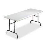 Lorell Folding Table - 600 -Lb Capacity - 72'' x 30'' x 29'' - Platinum [LLR12345-FS-SP]