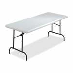 Lorell Folding Table - 600 -Lb Capacity - 96'' x 30'' x 29'' - Platinum [LLR12346-FS-SP]