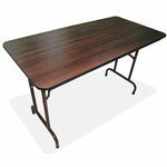 Lorell Folding Table - 30''W x 96''L x 29''H - Mahogany [LLR65761-FS-SP]