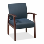 Lorell Guest Chairs - 24''W x 25''L x 35 -1/2''H - Cherry/Midnight Blue [LLR68553-FS-SP]