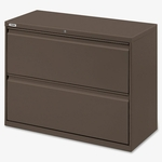 Lorell Lateral File - 2 -Drawer - 42''W x 18 -5/8''L x 28''H - Medium Tone [LLR60475-FS-SP]