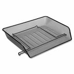 Lorell Letter Tray - Side Load - 14 -1/4''W x 10 -3/4''L x 3''H - Black Mesh [LLR84154-FS-SP]