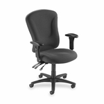 Lorell Managerial Task Chair - 26 -3/4''W x 26''L x 48 -1/4 -51''H - Gray [LLR66150-FS-SP]