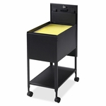 Lorell Mobile Standard File - withLock - 13 -1/2''W x 24 -3/4''L x 28 -1/4''H - Black [LLR60177-FS-SP]