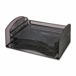 Lorell Organizer - with Sliding Drawer - 16 -1/4''L x 9''W x 8''H - Mesh/Black [LLR21562-FS-SP]