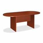 Lorell Oval Conference Table - 36''W x 72''L x 29 -1/2''H - Cherry [LLR87373-FS-SP]