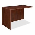 Lorell Rectangular Return Shell - 42''W x 24''L x 29 -1/2''H - Mahogany [LLR69388-FS-SP]