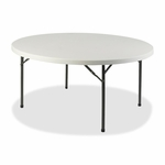Lorell Table - Banquet - 300lb Capacity - 48''W x 48''W x 29 -1/4''H - Platinum [LLR60327-FS-SP]