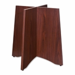 Lorell Wood Base -for Table Tops -24''W x 48''L x 29'' H -Mahogany [LLR69401-FS-SP]