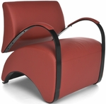 Recoil Lounge Chair - Red [841-PU011-FS-MFO]