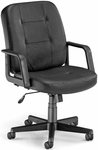 Leather Executive and Conference Chair - Black [505-L-BLACK-FS-MFO]