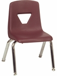 2000 Series Stack Chair with 12''H Seat - 13.5''W x 14''D x 21.62''H [2012-VCO]