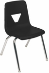 Quick Ship 2000 Series Stack Chair with 18''H Seat with Chrome Frame - Black - 18.75''W x 20''D x 30''H [2018-BLK01-CHRM-VCO]